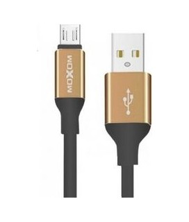 Moxom Braided USB to Micro USB Cable Χρυσό 2m (CC-54)