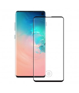 Fullscreen tempered glass No brand, Για Samsung Galaxy S10, 5D, Full glue, 0.3mm, Μαυρο