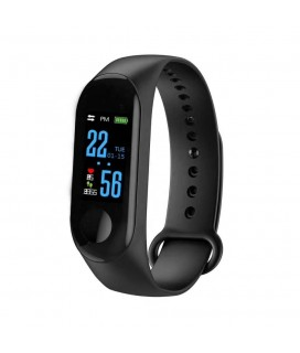 Smart Bracelet Ezra Bluetooth 4,0 IP67 Αδιάβροχο Μαύρο