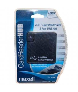 Card Reader Maxell 4in 1 (3Port USB)