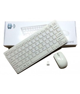 Terabyte 2.4Ghz K-03 Wireless Mini Keyboard and Mouse Combo for Windows OS Laptops with USB Support (White)