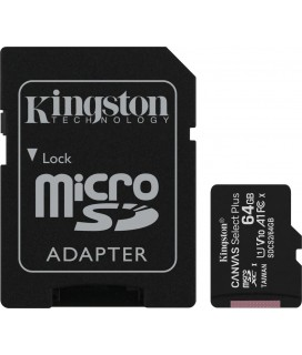 Kingston Canvas Select Plus microSDXC 64GB U1 V10 A1 with Adapter(SDCS2/64GB)