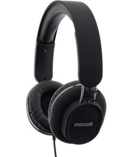 MAXELL CLASSICS HEADPHONES WITH MICROPHONE BLACK MXH-HP250