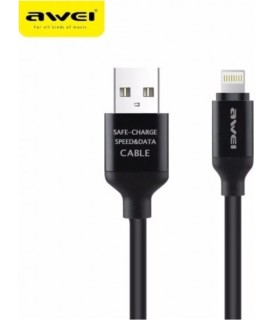 Awei Regular USB to Lightning Cable Μαύρο 1m (CL-80) IPHONE