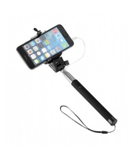 Self Stick with cable OEM Monopod Selfie Stick για iOS και Android Smartphones - χρώμα Μαύρο