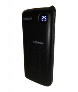MOXOM MI-15 15000 mAh / 2 USB ports / 5V 2,0A LED Display Black