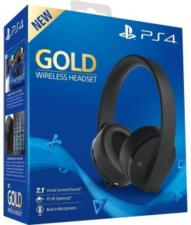 Playstation Gold Wireless Headset Black (9455165)