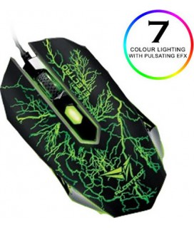 ALCATROZ 4-CLICK GAMING MOUSE 2400CPI CLASSIC ELECTRO XCRAFTCLE