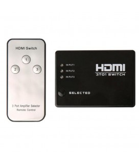 HDMI SWITCH MULTIMEDIA FULL HD & REMOTE CONTROL 3 PORTS
