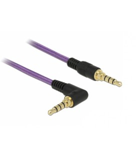 DeLock Cable 3.5mm male - 3.5mm male 1m (85611) Μώβ χρώμα