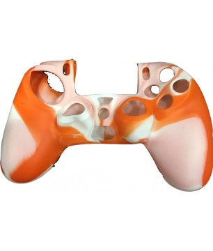 Silicone Case Orange/White PS4 CONTROLLER