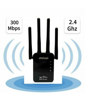 Andowl Q-A45 Wireless-N Wifi Range Extender/Repeater