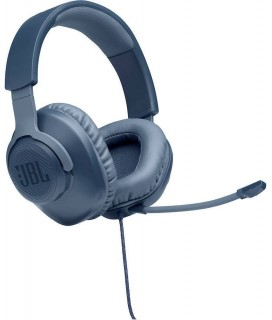 JBL Quantum 100, Over-Ear Wired Gaming Headset (Blue)