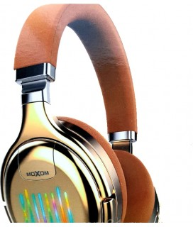 Ασύρματα Ακουστικά Headset Bluetooth Moxom Neon Beat MX-WL14 FM MODE Χρώμα Brown