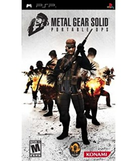 Metal Gear Solid: Portable Ops PSP GAMES