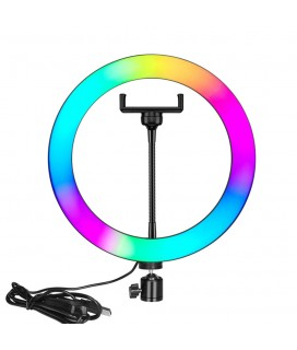 LED Ring light No brand M33, 33cm, RGB, 25W, Black