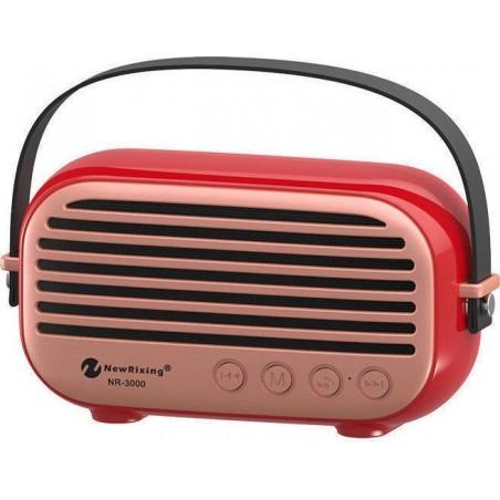 Newrixing NR-3000 10W Εξωτερικό Φορητό Bluetooth Ηχείο, σε κόκκινο χρώμα