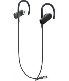 AUDIO-TECHNICA bluetooth earphones ATH-SPORT70BT, 9mm, μαύρα ATH-SPORT70BT-BK