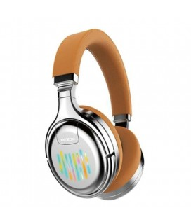 Ασύρματα Ακουστικά Headset Bluetooth Moxom Neon Beat MX-WL14 FM MODE Χρώμα Silver