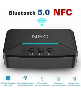 Bluetooth Receiver Andowl Q-T92 NFC v5.0 Μαύρο