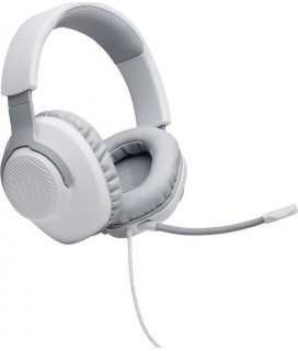 JBL Quantum 100 (White), Over-Ear Wired Gaming Headset(PC/PS4/XBOX/SWITCH/MAC/VR)