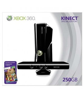 Microsoft XBOX 360 250 GB New Edition Slim Παιχνιδοκονσόλα WITH KINECT μαζί με Kinect Sensor & Game Kinect Adventures - Bundle