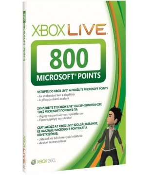 XBOX360 LIVE 800 POINTS XBox Live 800 Microsoft Points Card (XBOX 360) Πόντοι για XBOX 360