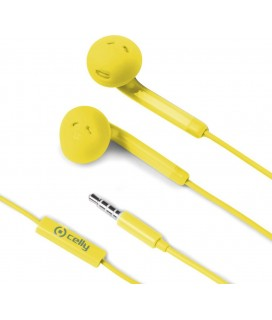 Celly Fun 35 Earbuds Handsfree με Βύσμα 3.5mm Κίτρινο(FUN35YL)