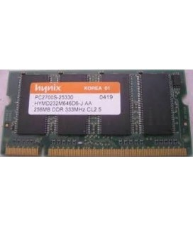 Hynix PC2700S-25330 256MB DDR 333MHZ CL2.5 Memory Module for Laptop μνήμη DDR I 256MB/333HZ Μεταχειρισμένη