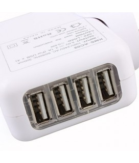 KMS-AC09 Universal AC Adapter for iPad/iPad 2/iPhone/Tablet/Κινητά φορτιστής ρεύματος με 4 usb