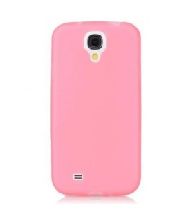 Back cover for SAMSUNG S4 mini i9190 DeTech super slim 0.35mm half transparent θήκη κινητού πίσω όψη για S4 mini Ρόζ