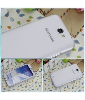 Back cover for Samsung Note 2 N7100 JZZS 0.5mm transparent+Lcd protector θήκη κινητού white-Λευκή με προστατευτικό οθόνης