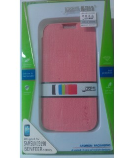 Leather case notebook SAMSUNG S4 mini i9190 JZZS δερμάτινη θήκη Ρόζ για το S4 Mini