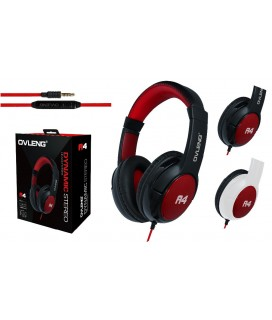 Ακουστικά με μικρόφωνο Headphones OVLENG A-4 for mobile phones with a microphone On / Off White / Red - Black / Red