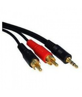 Cable Audio 3.5/2RCA 1.5m. HQ DeTech με επίχρυσα connectors