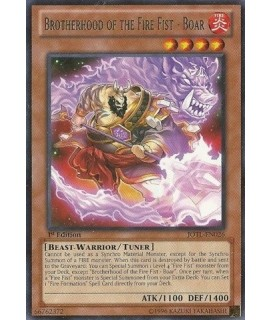 Yu-Gi-Oh Brotherhood of the Fire Fist - Boar - Judgment of the Light - 1st Edition - Rare