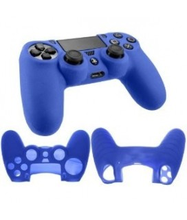 ZedLabz Silicone Rubber Grip Cover Case Skin For Sony PS4 Controller - Blue