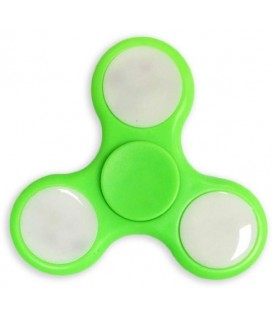 Fidget Spinner with LED Lights Toy Stress Reducer 1.5 Minutes Rotation Time Green