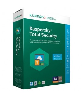 Kaspersky Total Security (3 Devices, 1 Year) Retail Box (PC/Mac/Android)