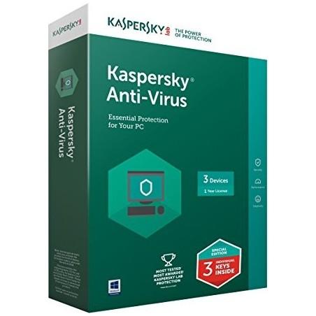 Kaspersky Antivirus ΕΛΛΗΝΙΚΟ (3 ΑΔΕΙΕΣ, 1 ΕΤΟΣ) 1 έτος