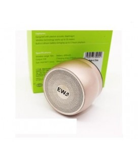 EWA A116 Bluetooth Portable Speaker Bass Metal Material χρώμα χρυσό