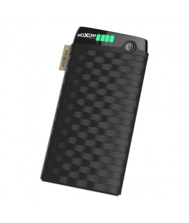 Moxom MCK-011 10000mAh Dual USB Port 2.4A/1A Power Bank With Micro USB Cable Χρώμα Μαύρο