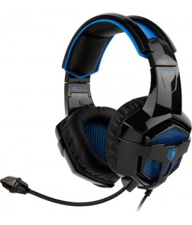 SADES Gaming Headset Bpower, Multiplatform (PS4/PC/XBOX1), 3.5mm, 40mm ακουστικά, μπλε (SA-739BL)