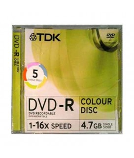 TDK DVD+R COLOUR DISC 1-16X 4,7GB