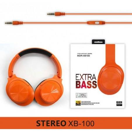 Ακουστικά με μικρόφωνο MDR-XD100 Stereo Headphones με αποσπώμενο καλώδιο χρώμα Πορτοκαλί