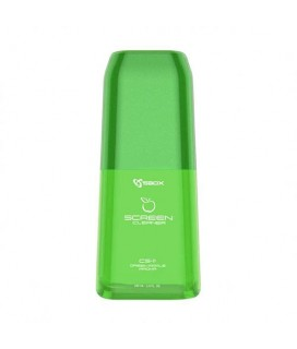 SBOX SCREEN CLEANER WITH MICROFIBER CLOTH GREEN APPLE CS-11GA